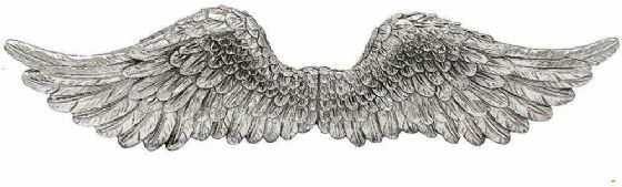 Large Set of Angel Wings Silver Home Decor Ornament Wall Art Vintage Shabby Chic